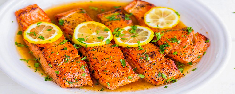 Pan-fried Honey Lemon Salmon